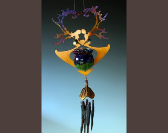 Valentine Heart - Wedding Heart Lover Fairies with Wind Chime and Potion Bottle