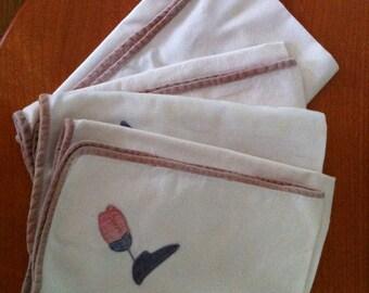 set of 10 vintage napkins