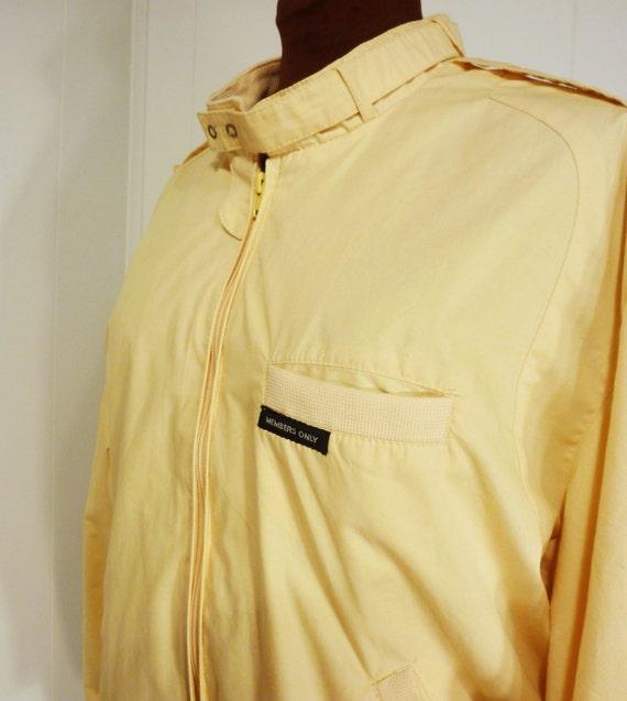 lemon yellow Members Only windbreaker jacket men or women