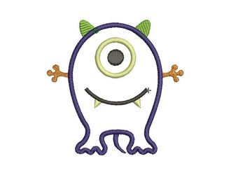 INSTANT DOWNLOAD, Machine Applique Design, Monster