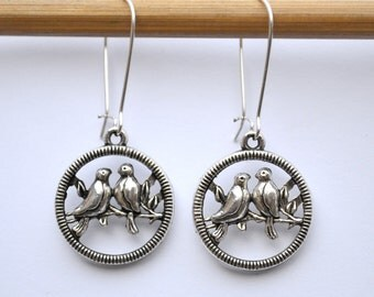 Boho Earrings, Bohemian Jewelry Christmas stocking stuffers Large Silver Earrings, Leverback Unique Gift Idea Her