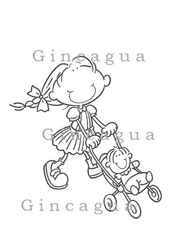 baby carriage coloring pages - photo #42
