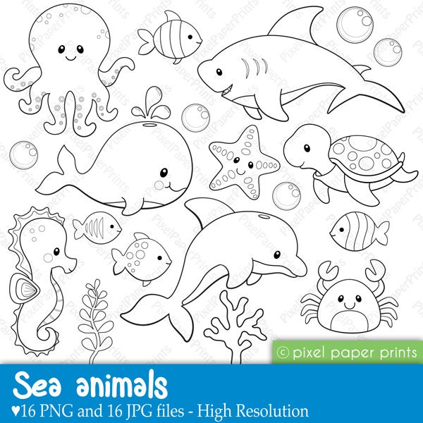 Geeky image with regard to printable sea animals