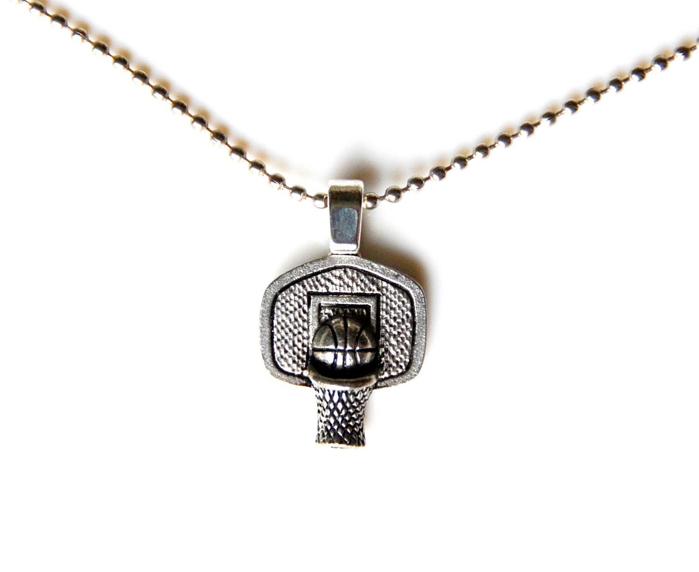basketball hoop pendant with adjustable chain by mancornas
