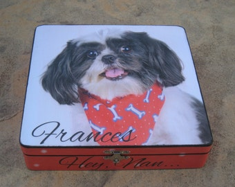 Pet Memorial Keepsake Box, Personalized Photo Keepsake Box, Pet Urn, Unique Dog Memorial, Custom Cat Memorial, Pet Gift Memory Box