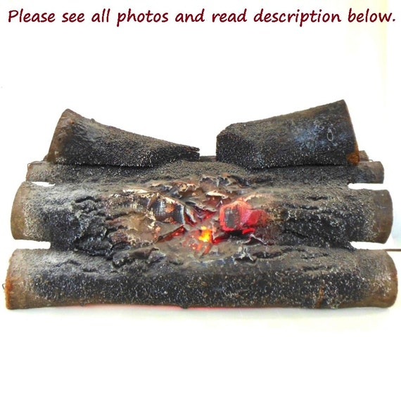Fake log electric fireplace insert 60s retro by for Artificial logs for decoration