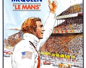 "Steve McQueen - Le Mans - Home Theater Decor - Old Movie Poster Print  13""x19"" - Formula One Car Racing  Movie Poster - Indy 500 Daytona"