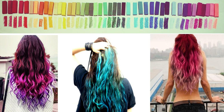 Rainbow Hair Chalk Hair Tint Hair Stain Ombre Hair by Cloud9Jewels