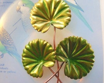Parrot Green Lily Leaf Stems  (2 pc)