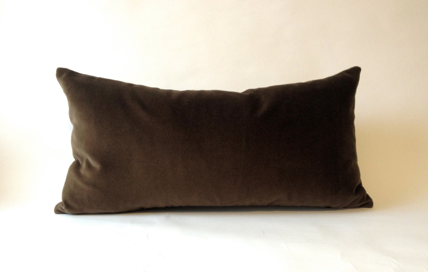 Decorative Pillow Brown : Chocolate Brown Cotton Velvet Pillow Cover Decorative Accent