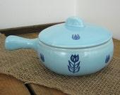 Vintage Blue Tulip Soup Bowl