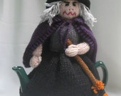 Witch Tea Cosy - KNITTING PATTERN - pdf file by automatic download