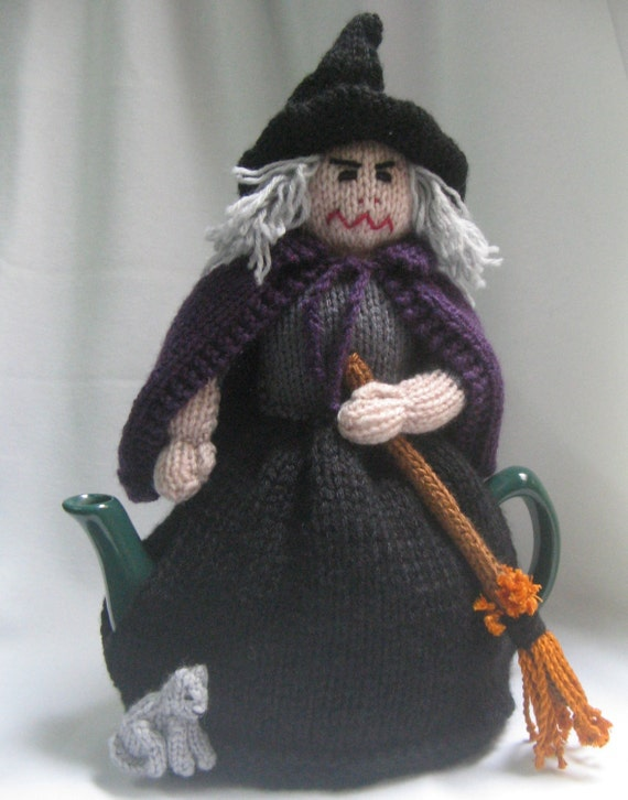 witch tea cosy knitting pattern pdf file by automatic