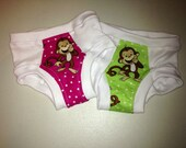 Happy and Playful Monkeys Training Underwear - Set of Two
