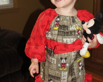 Mickey Mouse Peasant Dress