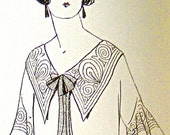 1920s Sewing patterns. Fancy collar and sleeves. Natural and atemporal design.