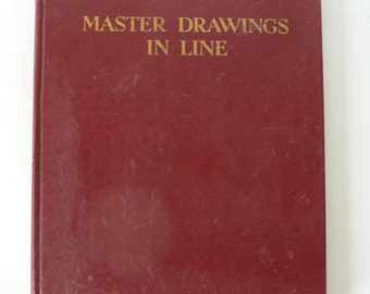 1948 book, Master Drawings in Line from Diz Has Neat Stuff