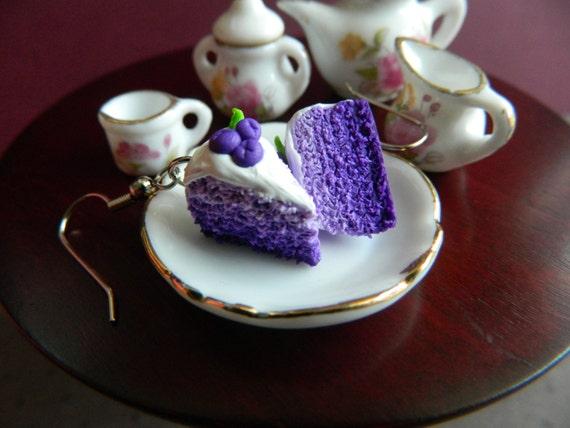 Lila Ombre Kuchen Ohrringe lila Kuchen Charme von OhLuckyCharm