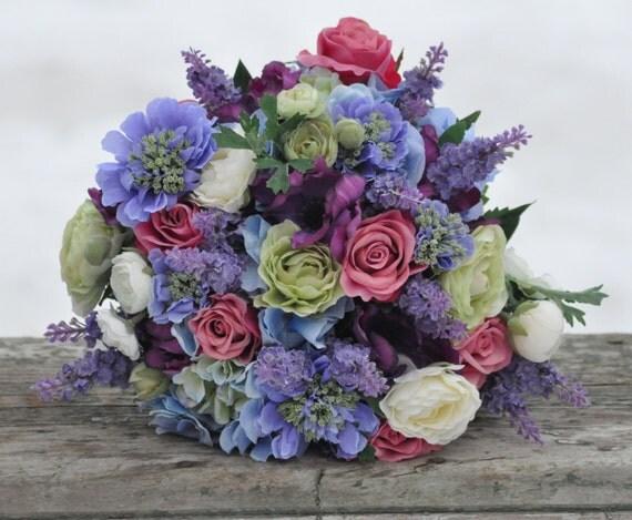 Button Bridal Bouquet Etsy : Silk wedding bouquet keepsake