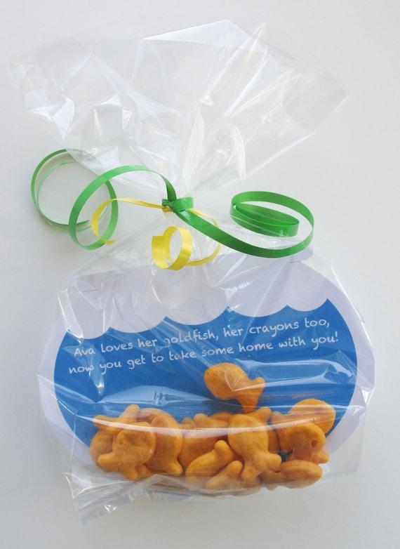 ELMO Goldfish Party Favor Tags Sesame Street favors Goldfish