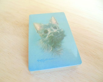 Vintage Playing Cards Dog Terrier Unopened 2 Sets Robert Forbes 60's (item 9)