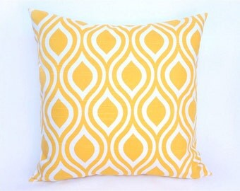 Decorative Pillow Cover 20x20 Corn Yellow Nicole. Accent Throw Pillow. Cushion Cover.