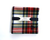 Personalized Groomsmen gift Wool plaid pocket square Tartan wedding Rustic Christmas Winter wedding Groom handkerchief Monogrammed gift