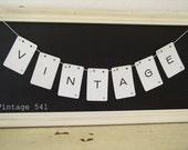 Vintage Letter Banner VINTAGE