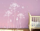 Dandelion wall decal flower nursery room Vinyl wall decal floral tree wall art sticker decal Nursery wall mural children-Dandelion Flowers
