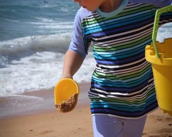 Kids swimwear - boys rashi / swim shirt in blue stripe