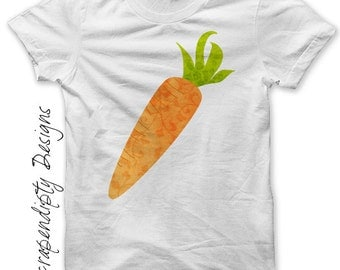 Easter Iron on Shirt PDF - Carrot Iron on Transfer / Kids Easter Shirt / Cute Baby Clothes / Girls Garden Tshirt / Boys Clothing Top IT183