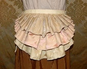 "Bustle Belt Overskirt - 3 Layer, Sz. XS/S - Cream, Pink, & Gold - Fits up to 47"" Waist"
