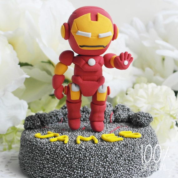 Items similar to Super Hero Iron man Cake Topper on Etsy