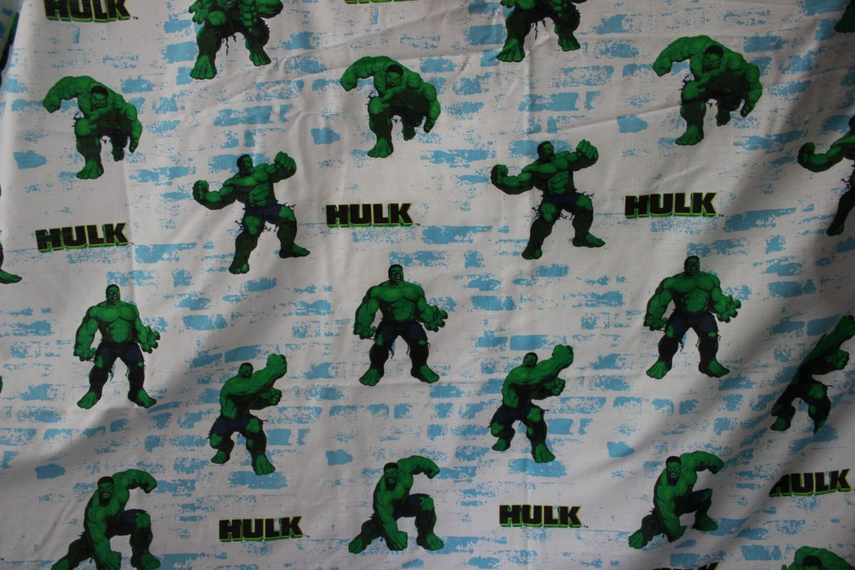 Incredible Hulk Twin Flat Sheet Fabric By