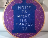 Doctor Who - TARDIS Embroidery Hoop