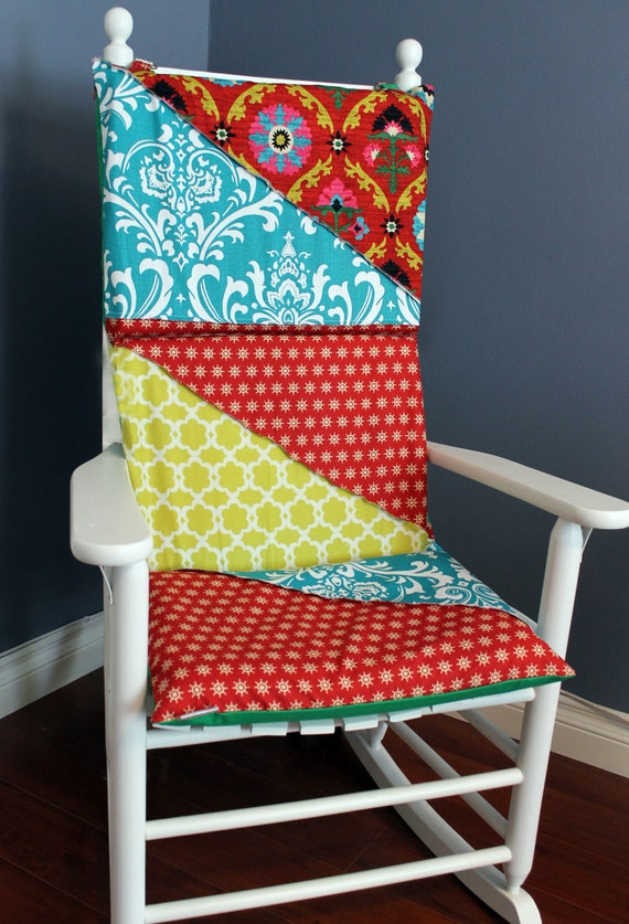 rocking chair cushion green patchwork quilt by rockincushions. Black Bedroom Furniture Sets. Home Design Ideas