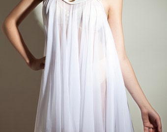 Babydoll // Beatrice Nightgown // Sheer Mesh // Great for Bridal Lingerie