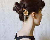 Japanese hair stick filigree kanzashi asian hair accessories gesiha woodland hair pin