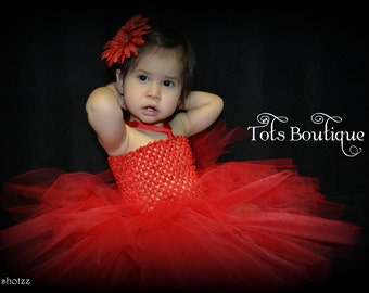 Red Tutu Dress- Baby Girl