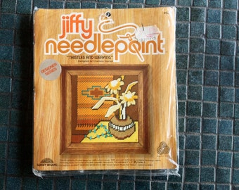 southwestern Indian Blanket Vintage Jiffy Needlepoint Kit DIY 1978 1970 Hippie Groovy Mod Brady Bunch Home Decor Pillow Framed Wall Art Kit