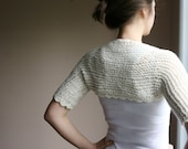 Creme Bridal Shrug  - Knit Bolero - Women Wedding Accessories - Fall Spring Fashion