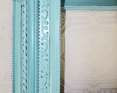 One Made to Order Shabby Chic Vintage Blue Hand Painted 8 x 10 Distressed Frame