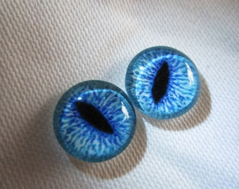 Glass eyes 12mm cat eyes for jewelry or altered art
