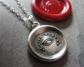 wax seal necklace with all seeing Eye of Providence - It Seeks You - antique wax seal jewelry by RQP Studio