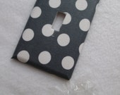 grey polka dot light switch cover