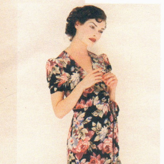 1990s Anna Sui dress pattern Vogue 1619 detail