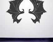 Bat Wings, Bat Decal, Bat Decor, Vampire, Halloween Decorations, Childrens, Gothic Decor, Vinyl Decal, Wall Sticker, Wall Art, Home Decor