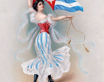 Vintage Tobacco Advertising Print - Turkish Trophies Collection - Cuba