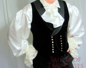 Men's Corset Laced Vest - Silk Velvet - Custom fit