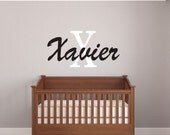 Boys Name Decals - Name Wall Decal - Boys Room Decor - Baby Wall Decals - Nursery Wall Decals